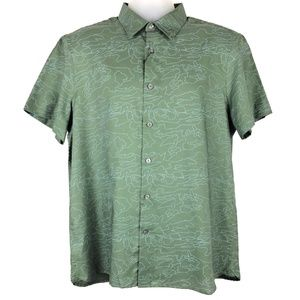 PERRY ELLIS Casual Button Short Sleeve